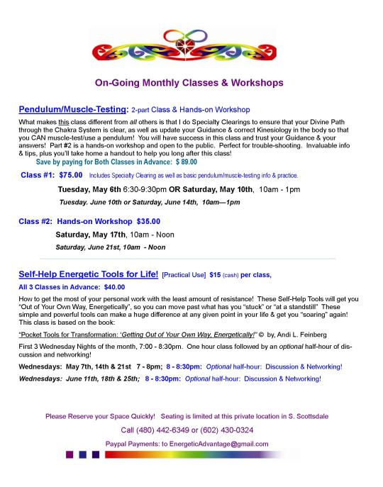 On-going Classes 2014